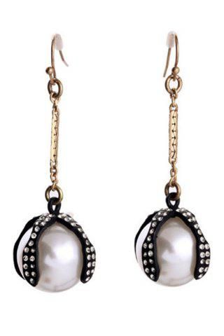 Fancy Pair of Stylish Faux Pearl Decorated Drop Earrings For Women