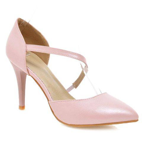 Outfits Elegant Pointed Toe and PU Leather Design Pumps For Women
