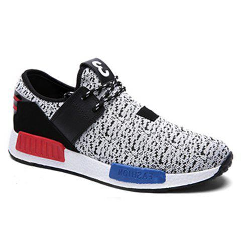 Stylish Colour Block and Lace-Up Design Athletic Shoes For Women - LIGHT GRAY - 41