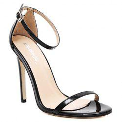 Trendy Strappy and Ankle Strap Design Sandals For Women - BLACK