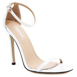 Trendy Strappy and Ankle Strap Design Sandals For Women - WHITE