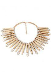 Glaring Faux Crystal Stick Necklace For Women -