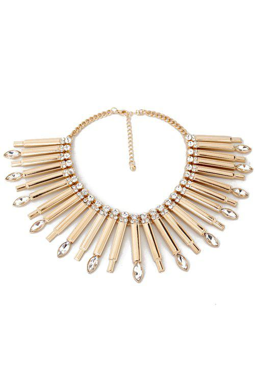 Shop Glaring Faux Crystal Stick Necklace For Women