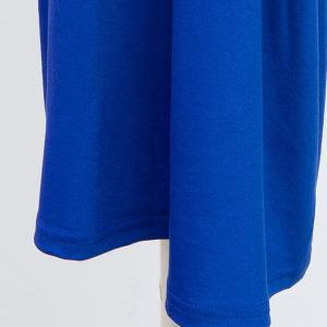 High Waist Plus Size Palazzo Pants - SAPPHIRE BLUE XL