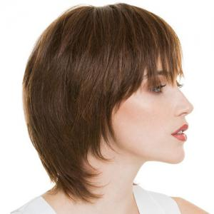 Fashion Side Bang Capless Human Hair Straight Wig For Women -