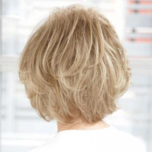 Women's Curly Ladylike Fluffy Side Bang Short Human Hair Wig -