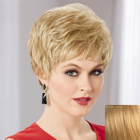 Outfits Women's Fluffy Trendy Side Bang Ultrashort Human Hair Wig