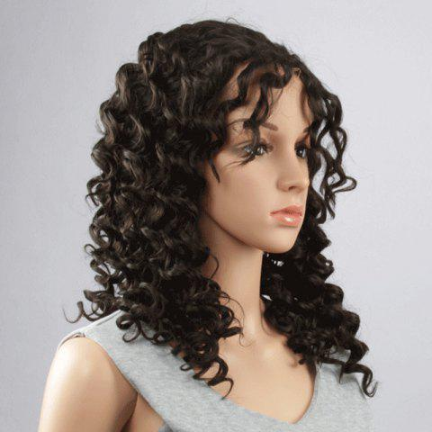 Fashion Long Synthetic Towheaded Curly Black Brown Lace Front Wig For Women от Rosegal.com INT