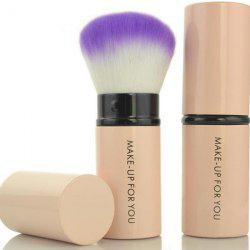 Stylish Multifunction Telescopic Design Lid Round Fiber Blush Brush