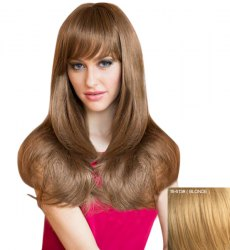 Attractive Natural Straight Capless Sweet Long Layered Human Hair Wig For Women
