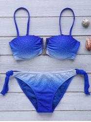 Trendy Strappy Ombre Bikini Set For Women -