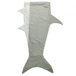 Chic Quality Flannel Double Layer Shark Design kids Sleeping Bag Blanket - GRAY