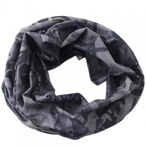 Stylish Letter and Skull Pattern Twist Scarf For Men