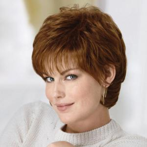 Women's Fluffy Curly Short Human Hair Wig -