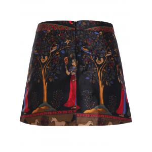Women's Stylish Ethnic Print High Skirt -