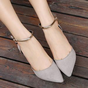 Fashionable Suede and Pointed Toe Design Pumps For Women -