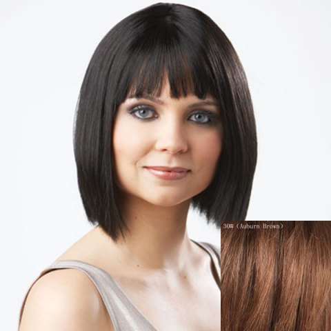 Buy Women's Trendy Bob Style Full Bang Human Hair Wig