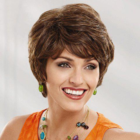 Women's Short Curly Side Bang Human Hair Wig от Rosegal.com INT