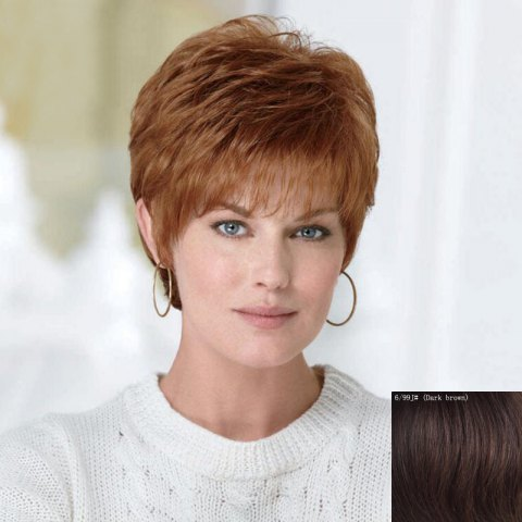 Fluffy Curly Short Human Hair Wig For Women 173869608