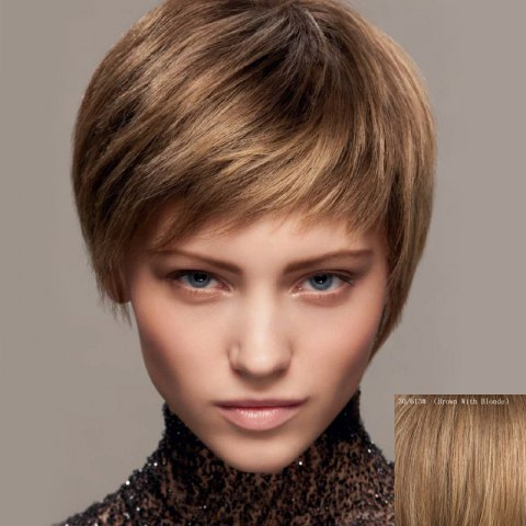 Affordable Fluffy Ultrashort Human Hair Wig For Women