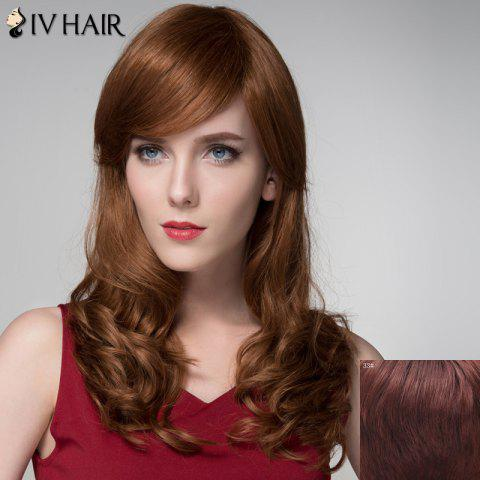 Outfit Charming Side Bang Capless Stylish Long Shaggy Wavy Human Hair Wig For Women