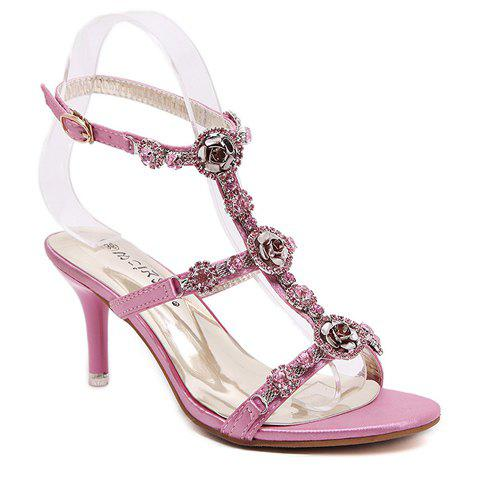 Chic Sweet T-Strap and Stiletto Heel Design Sandals For Women
