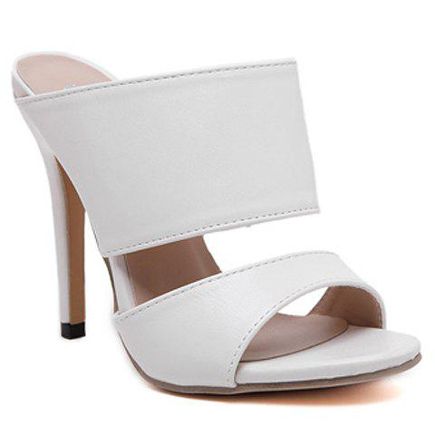 New Sexy PU Leather and Super High Heel Design Sandals For Women
