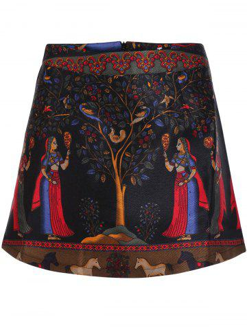 Shop Women's Stylish Ethnic Print High Skirt