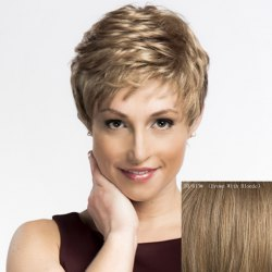 Women's Trendy Wavy Short Human Hair Wig -