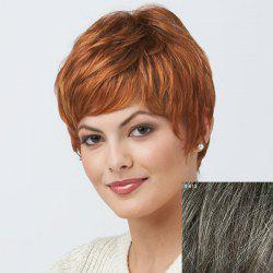 Women's Trendy Short Curly Human Hair Wig -