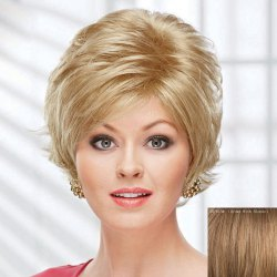 Fluffy Curly Short Human Hair Wig For Women -