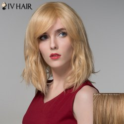 Shaggy Natural Wave Capless Vogue Medium Side Bang Human Hair Wig For Women -