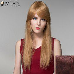 Charming Silky Straight Capless Trendy Long Side Bang Human Hair Wig For Women -