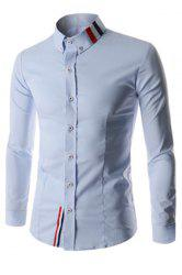 Stripes Long Sleeve Casual Button Down Shirt -