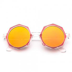Chic Polygonal Frame Candy Color Lenses Sunglasses For Women -