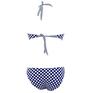 Women's Stylish Halter Backless Polka Dot One Piece Swimwear -