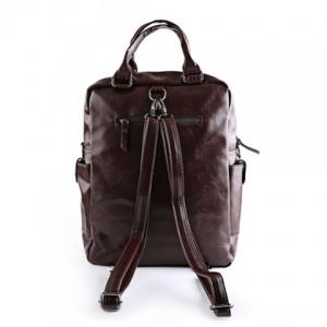 Stylish Zippers and Solid Colour Design Backpack For Men -