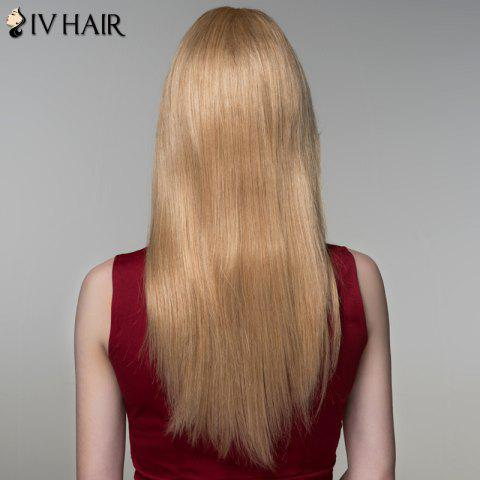 New Charming Long Side Bang Stylish Straight Capless Human Hair Wig For Women - BLONDE  Mobile