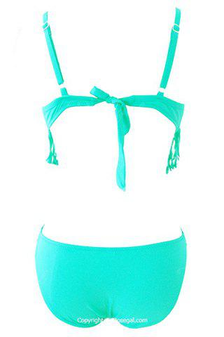 Women's Stylish Tassles Spaghetti Strap Candy Color One Piece Swimwear от Rosegal.com INT