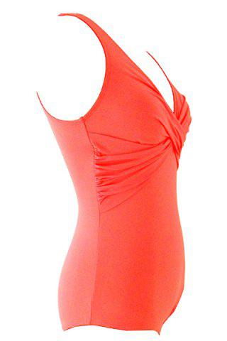 Women's Stylish Halter Backless Candy Color One Piece Swimwear от Rosegal.com INT