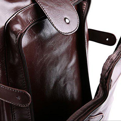 Chic Stylish Zippers and Solid Colour Design Backpack For Men -   Mobile