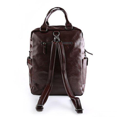 Sale Stylish Zippers and Solid Colour Design Backpack For Men -   Mobile