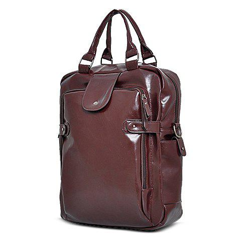 Shops Stylish Zippers and Solid Colour Design Backpack For Men -   Mobile