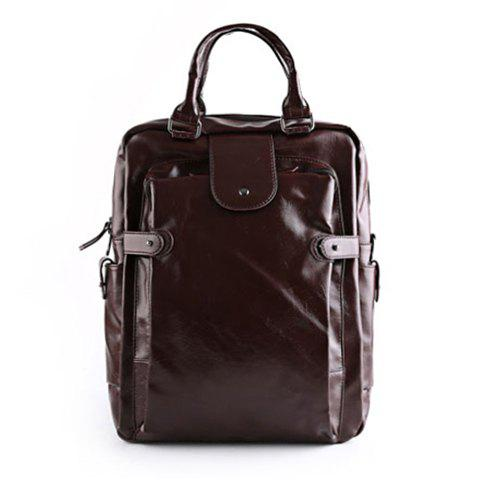 Affordable Stylish Zippers and Solid Colour Design Backpack For Men