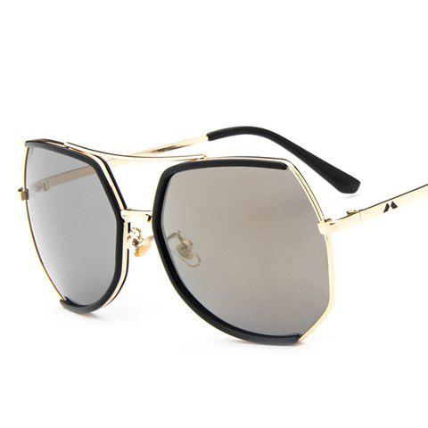 Sale Chic Black Semi-Rimless Match and Metal Leg Design Sunglasses For Women