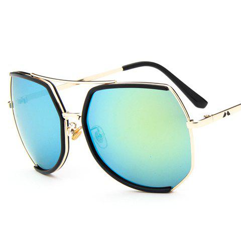 Chic Chic Black Semi-Rimless Match and Metal Leg Design Sunglasses For Women