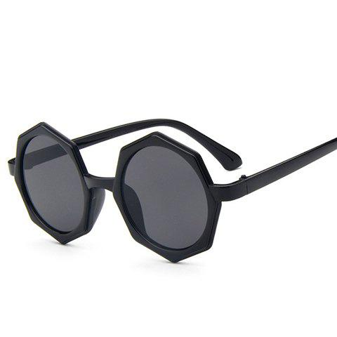 Cheap Chic Polygonal Frame Black Sunglasses For Women