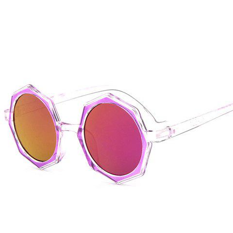 Trendy Chic Polygonal Frame Candy Color Lenses Sunglasses For Women