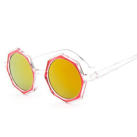 Outfit Chic Polygonal Frame Candy Color Lenses Sunglasses For Women