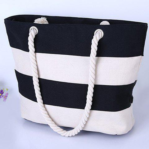 Outfits Hemp Rope Strap Stripe Tote - OFF-WHITE  Mobile